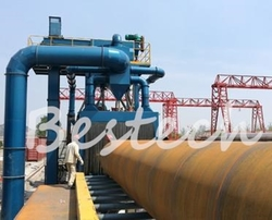 Large Steel Pipe Outer Wall Shot Blasting Machine from QINGDAO BESTECH MACHINERY CO.,LTD