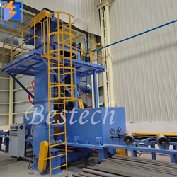 Steel Tube Inner Surface Shot Blast Cleaning Machine from QINGDAO BESTECH MACHINERY CO.,LTD