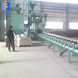 Steel Tube External Wall Rust Removal Shot Blasting Machine from QINGDAO BESTECH MACHINERY CO.,LTD