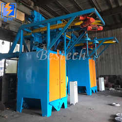 LPG Cylinder Surface Cleaning Hook Shot Blasting Machine from QINGDAO BESTECH MACHINERY CO.,LTD