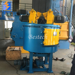 Turning Table Shot Blasting Machine for Aluminum Ingot from QINGDAO BESTECH MACHINERY CO.,LTD