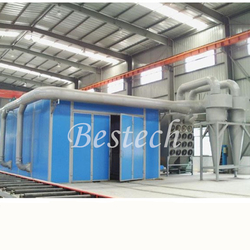 Industrial Sand Blasting Room with Abrasive Recycling System from QINGDAO BESTECH MACHINERY CO.,LTD