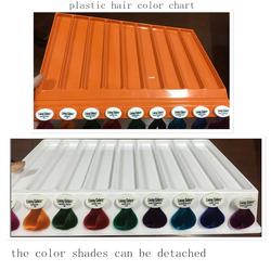detachable plastic hair color swatch book