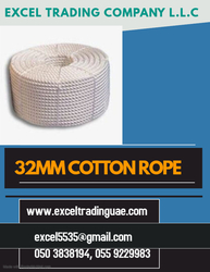 32 MM COTTON ROPE SUPPLIER IN ABUDHABI,UAE  from EXCEL TRADING COMPANY L L C