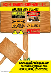 WOODEN SIGNBOARDS SUPPLIERS IN DUBAI  from EXCEL TRADING COMPANY L L C