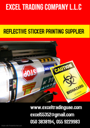 REFLECTIVE STICKER PRINTING  from EXCEL TRADING COMPANY L L C