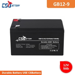 CSBattery 12V 9Ah free-Maintenance- AGM battery for Power-Station/Fire/Security-System/motor/Buggies/forklift
