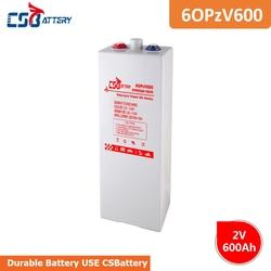 CSBattery 2V 600Ah Rechargeable gel OPzV Battery for Solar/wind-power-station/power-Inverter/motorcycle