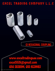 GI HEXAGONAL COUPLING NUTS from EXCEL TRADING COMPANY L L C