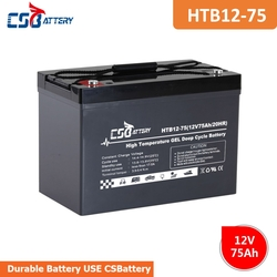 CSBattery 12V 75Ah power storage GEL Battery for power-tools/Security-System/motor/Buggies/vs:Sacred Sun