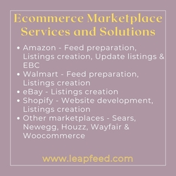 Upload products to your Amazon, Walmart, Shopify, Sears, Newegg  from LEAPFEED