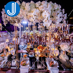 Modern Luxury Hotel Dining Room Gold Stainless Steel Metal Wedding Chair Dinning Event chairs
