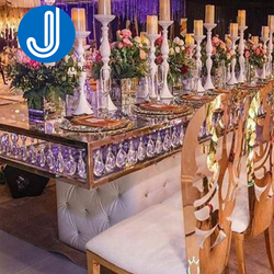 Gold Steel Event Tables And Chairs Hotel Wedding Furniture Wedding Table Banquet Party Tables For Wedding And Event
