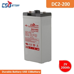 CSBattery 2V 200Ah rechargeable AGM Battery for Generator/Power-Station/Automotive-Vehicle/submersible-Pumps