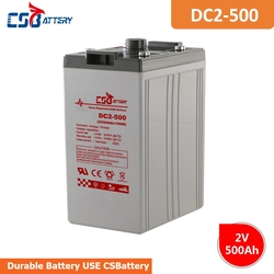CSBattery 2V 500Ah rechargeable AGM Battery for Sweeper/solar-panel/PV/backup-energy/Automotive/Vehicle