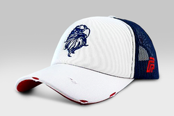Eagle cap - White /Navi blue & Red | Large