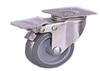 Stainless Steel Castor Grey Rubber Wheel