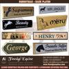 Equestrian name plates
