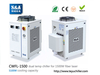 S&A water chiller CWFL-1500 for cooling 1500W meta ...