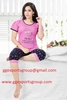 Women's Sleepwear Cotton Short Sleeve round neck top and Capri Pyjama Set