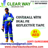 COVERALL WITH DUAL FR REFLECTIVE TAPE DEALER IN MUSSAFAH , ABUDHABI ,UAE