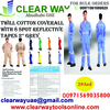 Twill Cotton Coverall With 8 Spot 2'' Grey Reflect ...