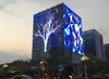 Architecture Flexible Transparent LED Mesh Display, LED Media Facade Screen, LED Curtain for building facades