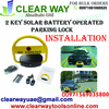 2 KEY SOLAR BATTERY OPERATED PARKING LOCK INSTALLA ...
