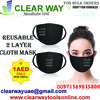 REUSABLE 2 LAYER CLOTH MASK @ 1AED IN MUSSAFAH , A ...