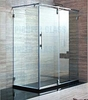 Tempered glass shower partition