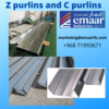 Z Purlins and C Purlins
